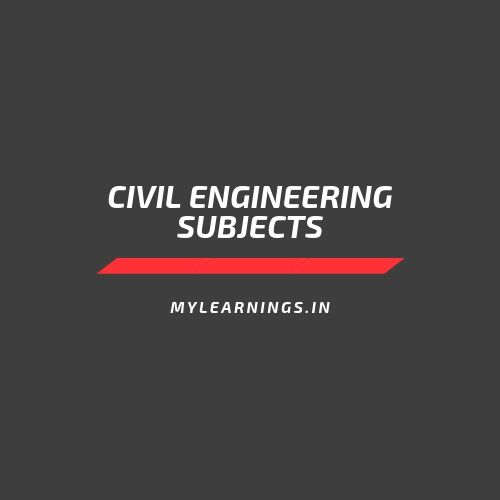 civil engineering subjects