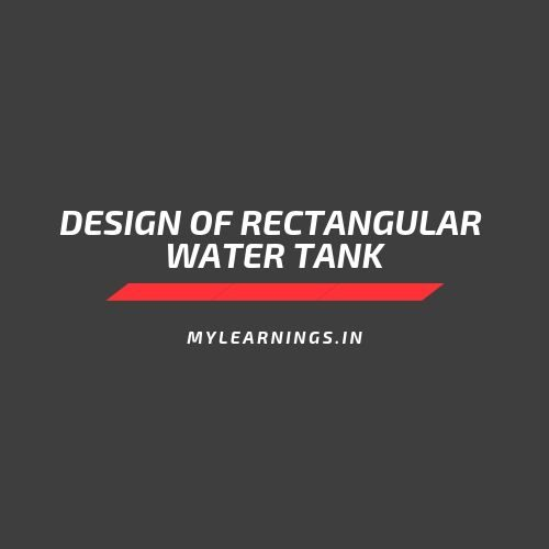 design of underground water tank