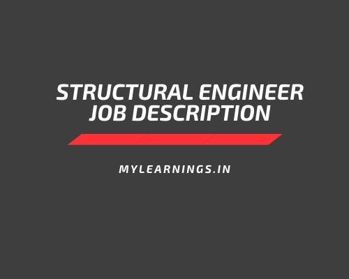 structural engineer job description