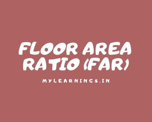 what is floor area ratio (FAR)